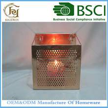 Round Glass Metal Decorative Candle Holder