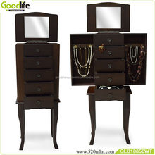 living room showcase design wooden jewelry cabinet