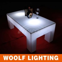 led low height 4 legs standing large rectangle tables