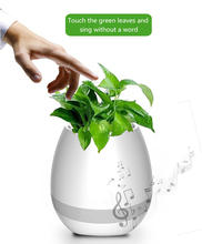 2017 intelligent bluetooth speaker touch piano music playing wireless led smart singsing plant flower pot