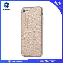 Best Seller Bling Crystal Sparkling Rhombus Tpu Hard Case Cover For iPhone 7 , Glitter Case for Mobile Phone