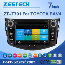 ZESTECH factory direct sale 7'' 2 din car sat navi headunit car multimedia player for toyota rav4 car music system with AM/FM BT