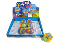 popular in market ABS toy spinning tops light and music