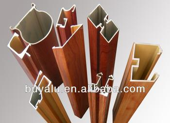 the best wooden grain aluminum extrusion profile for windows and doors