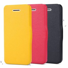 Magnetic inside sleeping function flip leather case for iphone 5c hot selling smartphone case
