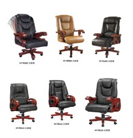 wood executive electric adjustable office chair factory sell directly HYA70