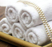 100% combed cotton white face towel for hotel and spa