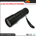 Wholesale Price Promotion 12 LED UV Led 365nm Small UV Light Torch Flashlight
