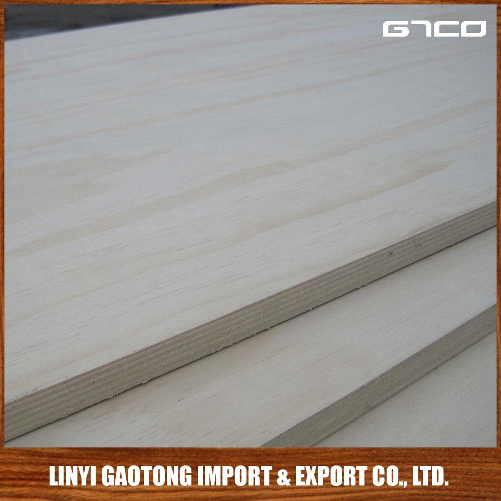 GTCO High Quality Low Price 1220x2440x9mm,12mm,15mm,18mm,Radiata Pine Veneer Poplar Core Plywood For Funiture,Construction
