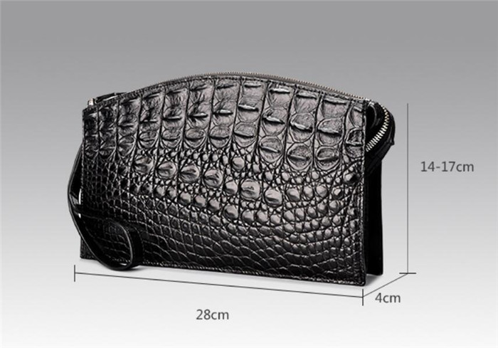 Custom Luxury Genuine Crocodile Leather Wallet Clutch Bag for Man
