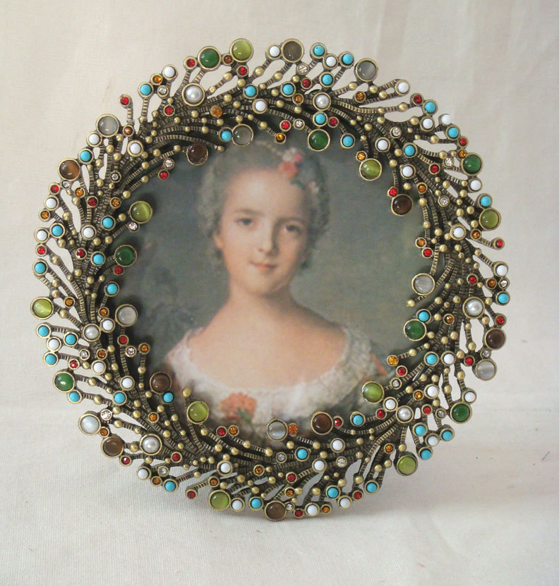 Round Jewelry Metal Photo Picture Frame