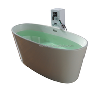 K-C21Center Drain Location and Freestanding Installation Type matt bathtub