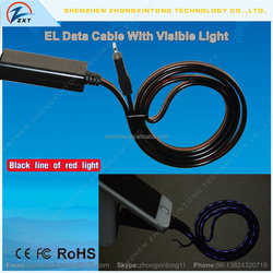 EL Glowing Chasing Micro USB Charge Sync Data Cable
