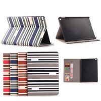 Colorful Zebra-Stripe design Leather stand Case for iPad pro, for ipad pro case wallet