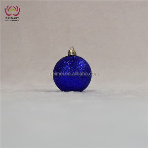 xmas dark blue glitter ball, night blue glitter Christmas ball, bulk Christmas wreath decor