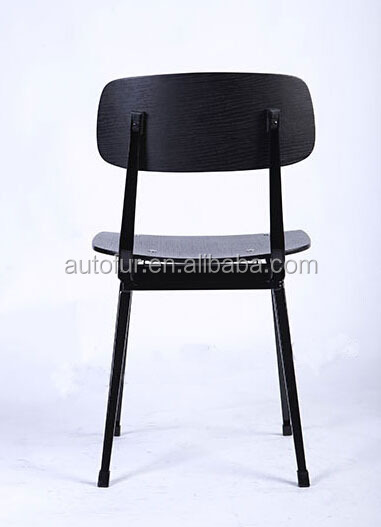Vintage Industrial Plywood Metal Frame MATI Chairs