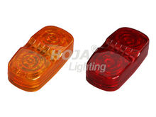 4 inch x2 inch Rectangular Bull-Eye Marker & Clerance Light led truck and trailer lights