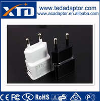 5V 2A EU dual USB Wall Charger for Mobile phone charger Samsung S5 Note4 N9000