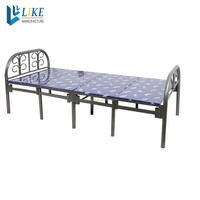 2015 modern design single folding metal bed for sales