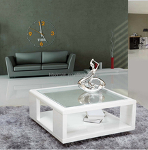 Modern Granite Top High Gloss Coffee Table Design