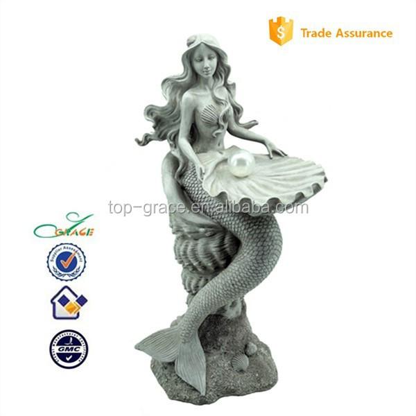 Resina estátua da sereia para a decoração home