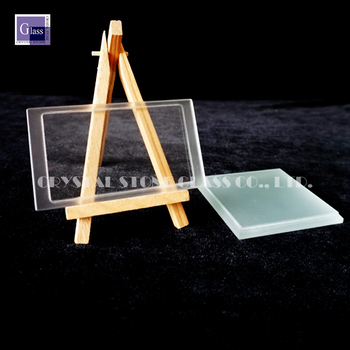 6MM rectangular step glass Square tempered glass for lamp glass