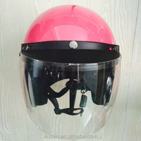 pink lady open face helmet novelty dot 3/4helmets givi womens jogger canvas vestdot motorcycle helmet harley motorcycle ce ece