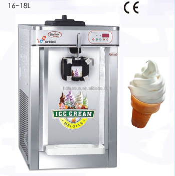 Countertop Electric Ice Cream Maker : Steel Countertop 220V Electric 1 Flavor Soft Ice Cream Machine ...