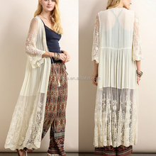China agents manufacture clothing wholesale womens bohemian style gorgeous lace duster cardigan guangzhou suppliers