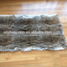 Rex Rabbit Skin Fur Rug Blanket Knitted Rabbit Fur Blankets