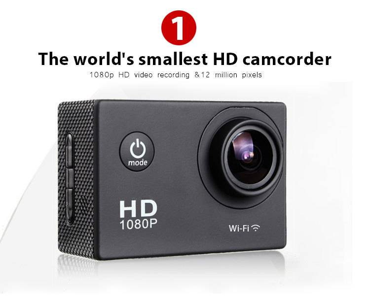Action Camera Full HD DVR Sport DV Wifi 1080P Helmet sport camera Motor Mini DV