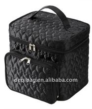 Cheap quilted makeup case,travel toiletry bag