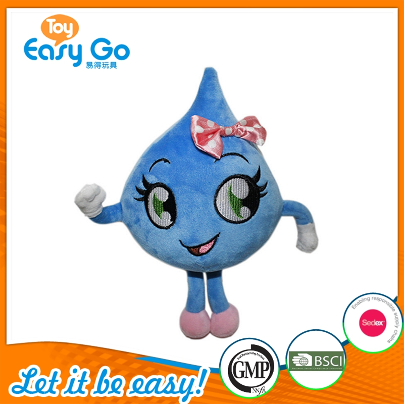 Hot Sale Soft Cute Cartoon Image Water Prop Shapes Big Embroidery Eyes Sex Girl Plush Doll Toy