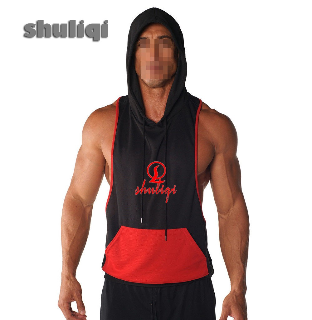 Mens Blank Fitness Bodybuilding Ribbed Workout Sports Gym Tank Tops Wholesale