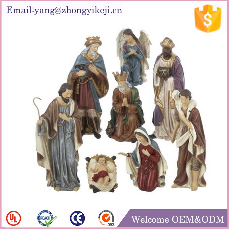factory custom-made handmade polyresin nativity scenes in resin
