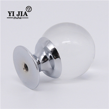 High Quality Crystal Wood Cabinet Door Handle 30mm Unique Knobs