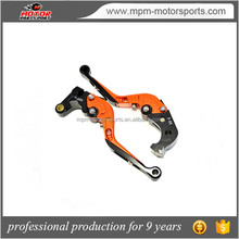 CNC Labor-Saving Folding Extendable Motorcycle Brake Clutch Levers Orange for Kawasaki