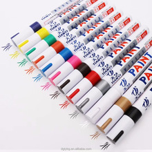 Permanet Pigment Marker Set Colorful 12 for Metal ,Wood, Ceramic, Aluminium, Oil-Based ,Fabric Pen