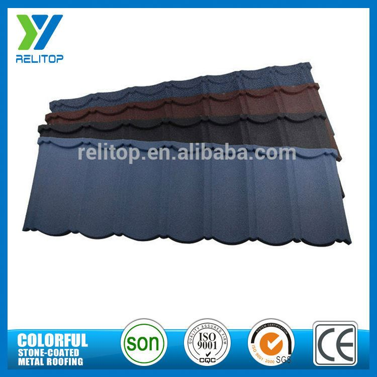 10 Optional Colors Al-Zinc Stone Chip Coated Cheap Roof Tiles