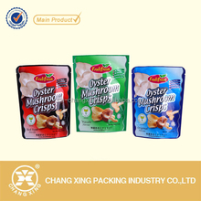 Customized food safe plastic vegetable crisps packaging bag / stand up dried fruit package pouch