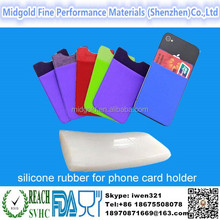 Wholesale silicone rubber making silicone mobile phone card holder,mobile phone silicone case card holder wallet