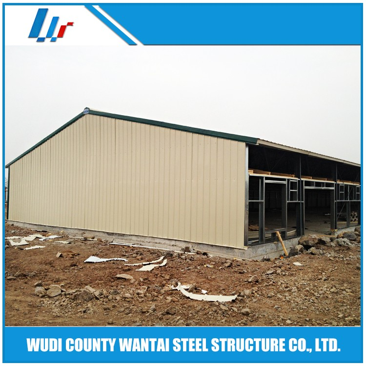 Steel structure chicken poultry house with brolier chicken equipment