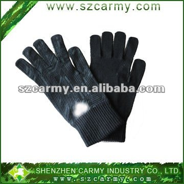 100%cotton wool Men's winter warm fashion gloves/stylish gloves