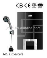 Adjustable temperature rapid electric shower head water heaters