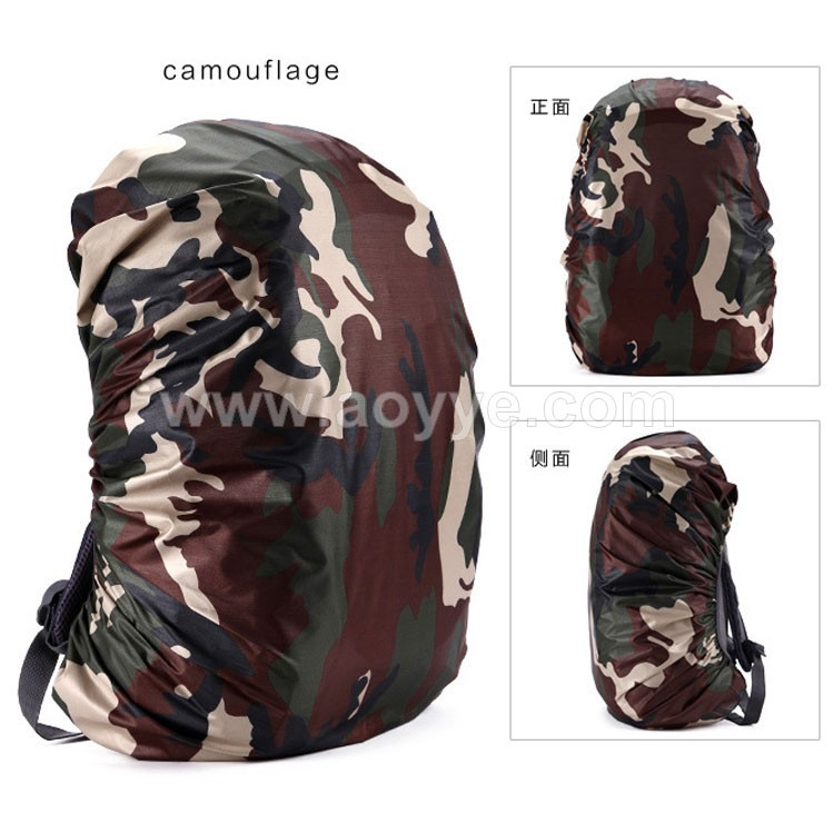 Newest outdoor hiking camping cheap nylon camouflage promotion fashion design waterproof school bag rain cover