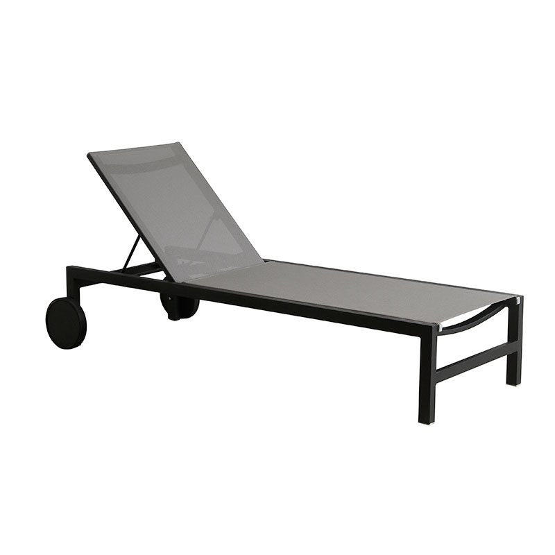 all weather outdoor grey pool sleeping sun fun lounge furniture for hotel outdoor lounge chair furniture with wheels Philippines