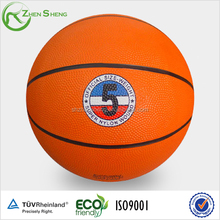 Size7 rubber basketball manufacturer from Shanghai Zhensheng