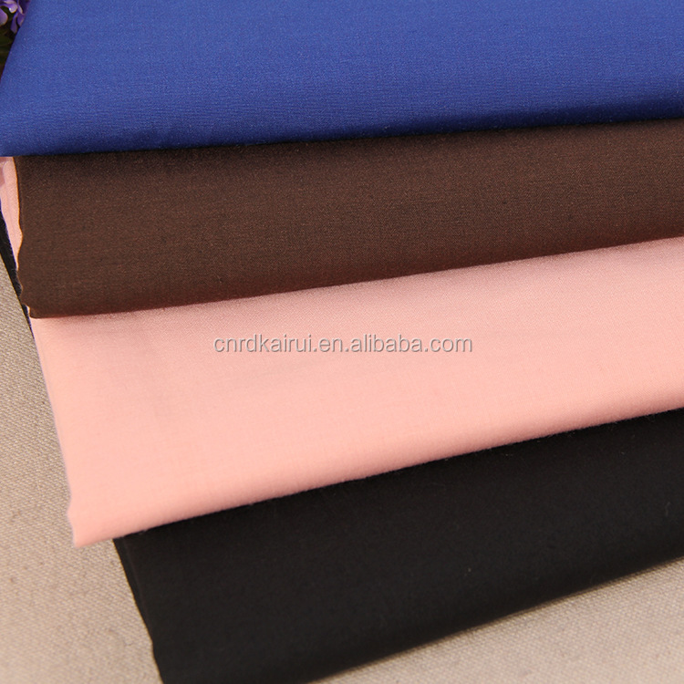 Top quality China Manufacturer 80 polyester 20 cotton woven twill polyester cotton blend lycra fabric for used clothing