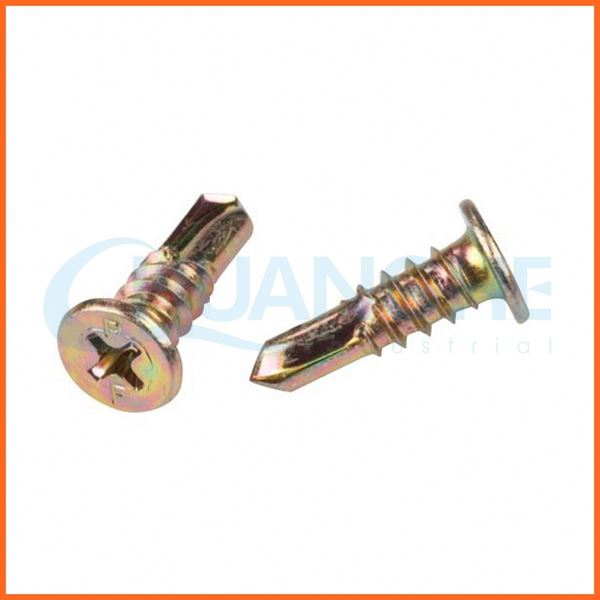 China manufacturer hex washer head self drilling screw with epdm bonded washer
