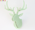 Latest design 3D wooden animal hesd moose for decoration/china carving hanging ornament Deer Head Wall decoration.